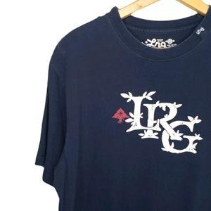 LRG Men's Navy Blue Short Sleeve Screen Tee